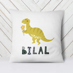 Dinosaur with flower Namepillow