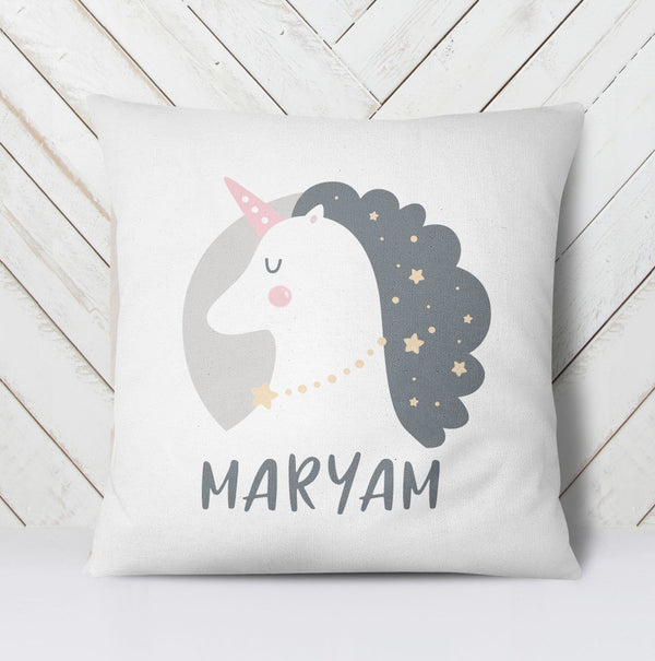 Unicorn with mane pillow