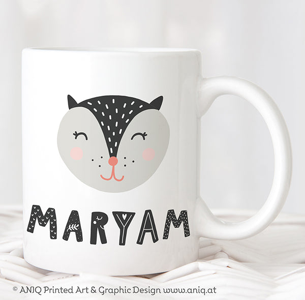 black little Cat children's Mug