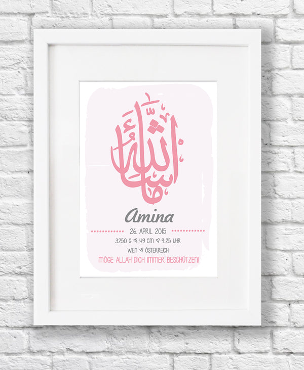Birth dates nursery print