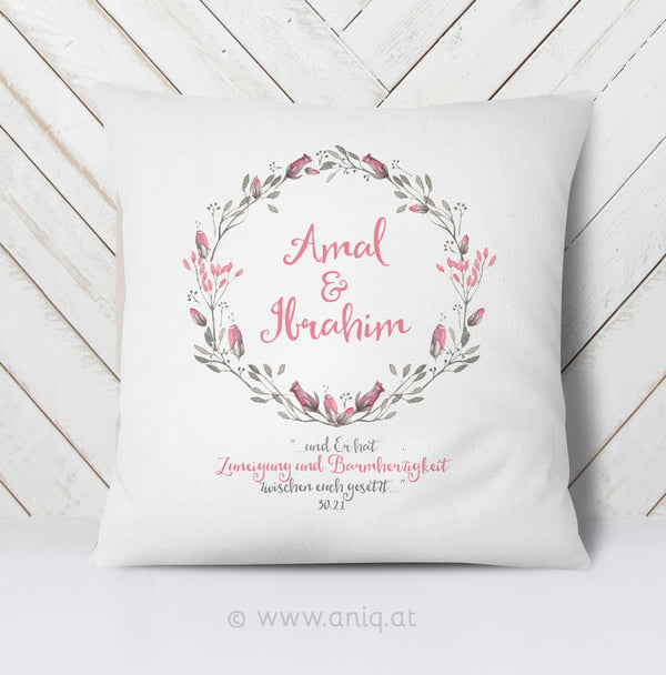 personalized Couplepillows ''Tulips in Love''