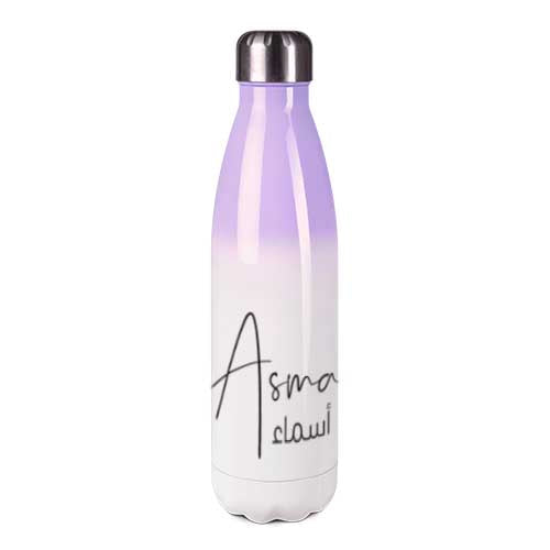 Stainless steel thermos flask with name