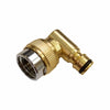 "BRASS 90° Hozelock Male to 1/2"" Threaded SWIVEL Connector - Window Cleaning Warehouse Ltd"