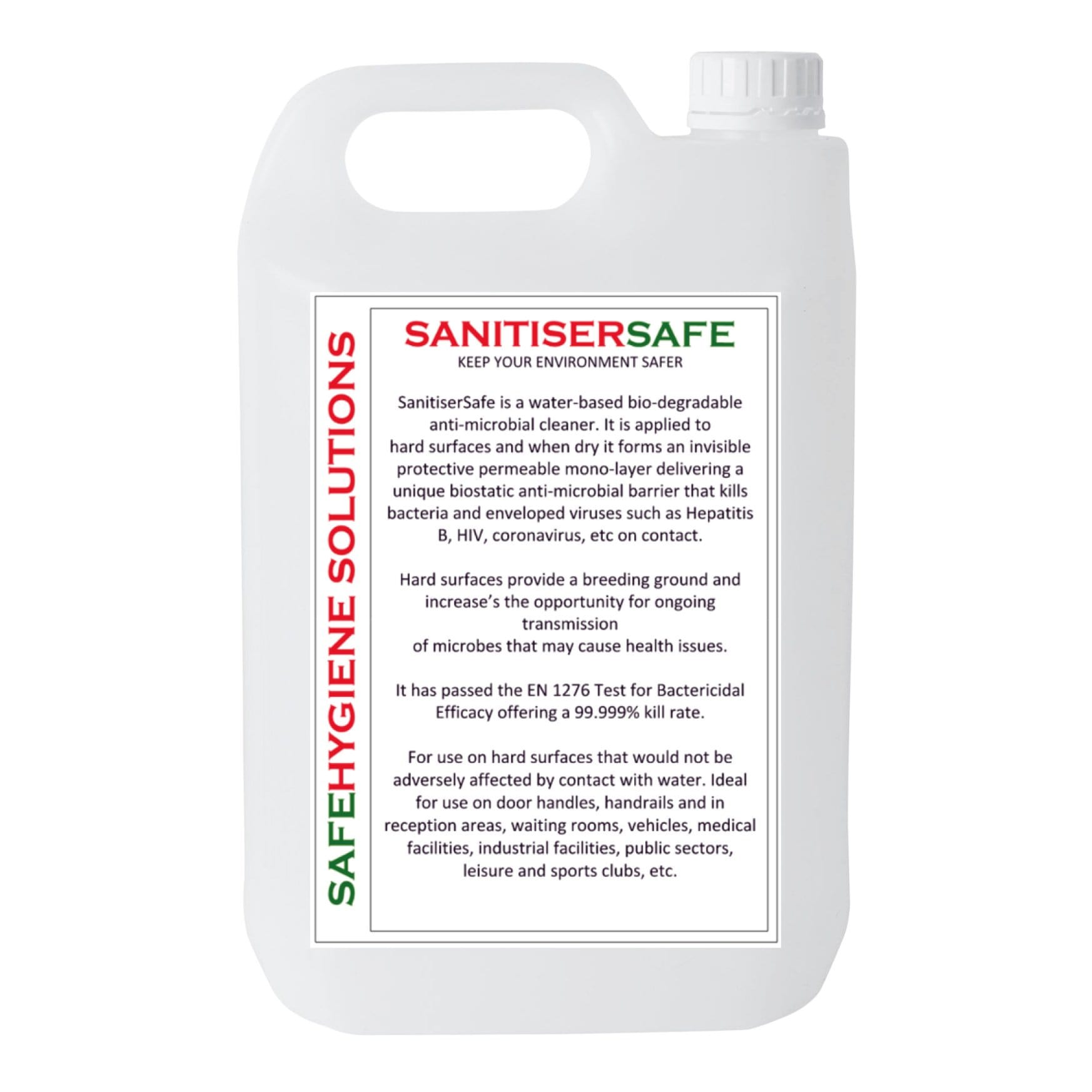 Sanitiser Safe Anti Microbial Cleaner - 5L