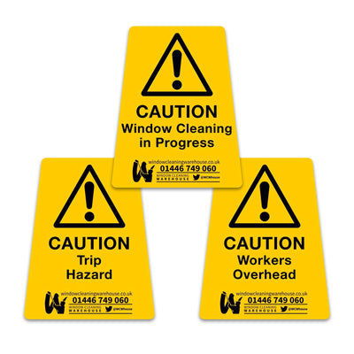 HIGH TACK Hazard Cone Stickers - Window Cleaning Warehouse Ltd
