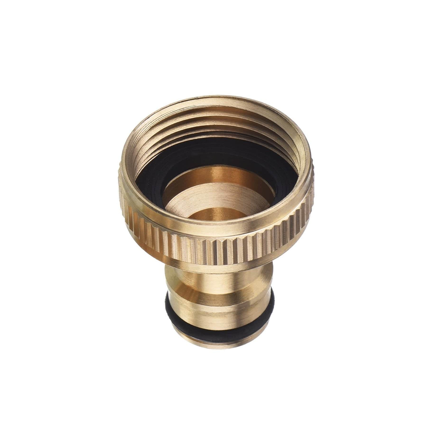"BRASS Hozelock Male to 3/4"" Threaded TAP Connector - Window Cleaning Warehouse Ltd"