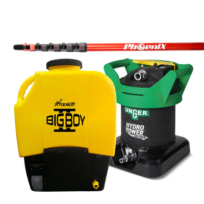 FaceLift® BigBOY 2 Backpack STARTER KIT Ultra - 18ft - Window Cleaning Warehouse Ltd