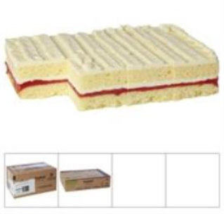 ORIGINAL CAKERIE CAKE STRAWBERRY WHT CHOC GTF (2/1.82KG)