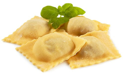 Ravioli isolated on white background
