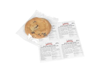 Image of an individually wrapped English Bay Chocolate Chunk Cookie