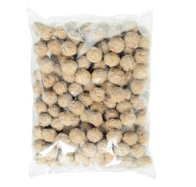 Bag of Cooked Perfect frozen flame broiled beef Italian meatballs