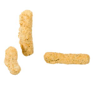 Three High Liner Breaded Mozzarella Sticks with text stating it is a staff pick