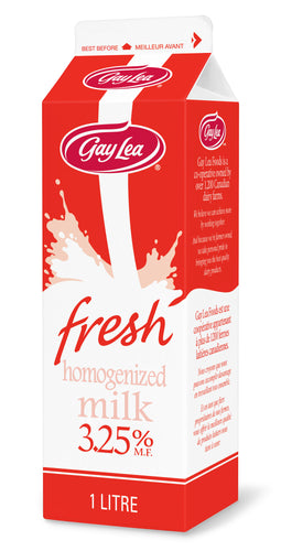 Carton of Gay Lea Homogenized Milk
