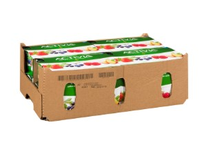 Cardboard case containing Activia Yogurt Multi-Pack