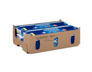 Cardboard container of 48 Danone Creamy Yogurt cups in assorted flavours