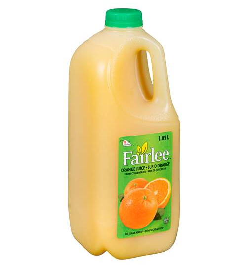 FAIRLEE JUICE ORANGE PLASTIC (6/1.89LT)