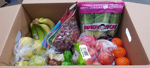 Image of Small Produce Kit, showing a box filled with fruits and vegetables