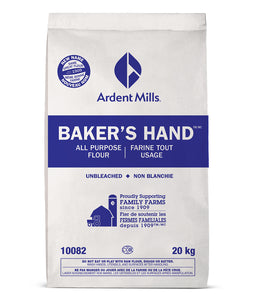 Bag of Ardent Mills Unbleached All Purpose Flour on a white background