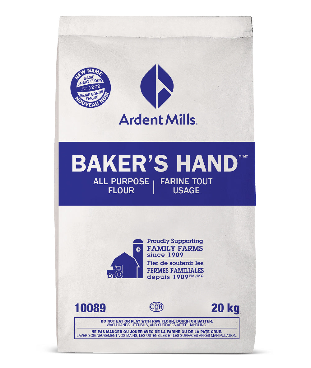 Bag of Ardent Mills All Purpose Flour on a white background