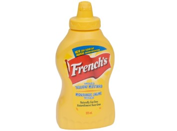 Squeeze bottle of French's Yellow Mustard