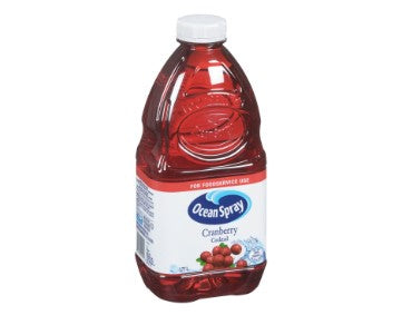 Container of Ocean Spray Cranberry Cocktail Juice