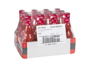 Case containing 12 bottles of Frank's Original Red Hot Sauce
