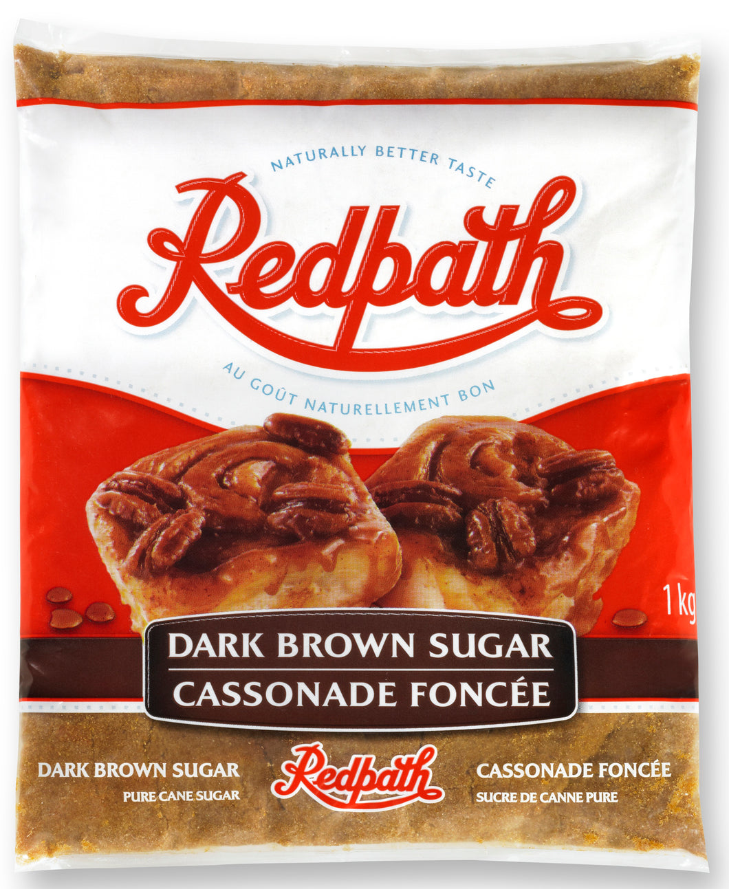 Bag of Redpath dark brown sugar