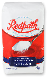 Bag of Redpath fine, granulated, white sugar
