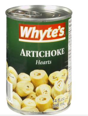 WHYTES ARTICHOKE HEARTS 5/6 CT (24/398ML)