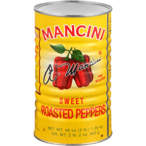 MANCINI PEPPER RED FIRE ROASTED WHOLE (12/48OZ)