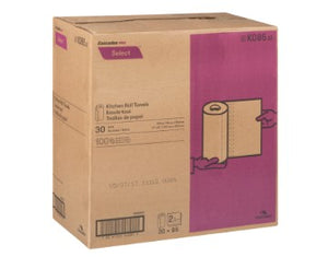 Box of Cascade 2 ply paper towel rolls
