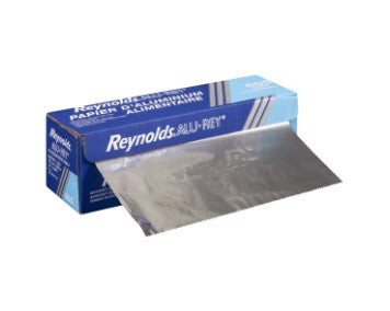 Box of Pactiv foil counter roll with foil sticking out