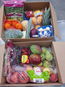 Image of the medium sized produce kit in two boxes