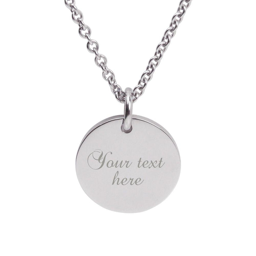 Silver Engraved Personalised Pendant – Mother of the Bride, Mother of the Groom