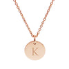 Rose Gold Monogram Letter Pendant (3 font options)
