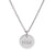 Silver Engraved Monogram Letter Pendant (3 font options)