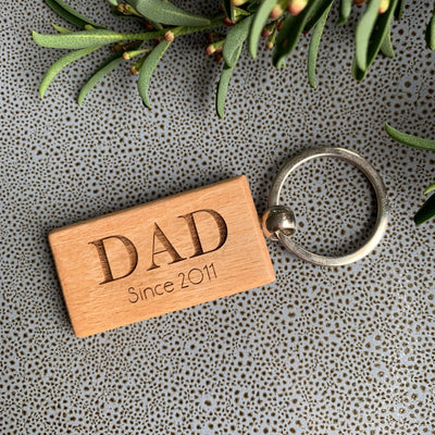 Wooden keyring - Daddy Since