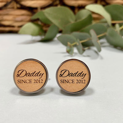 Daddy Since  – Wooden cufflinks