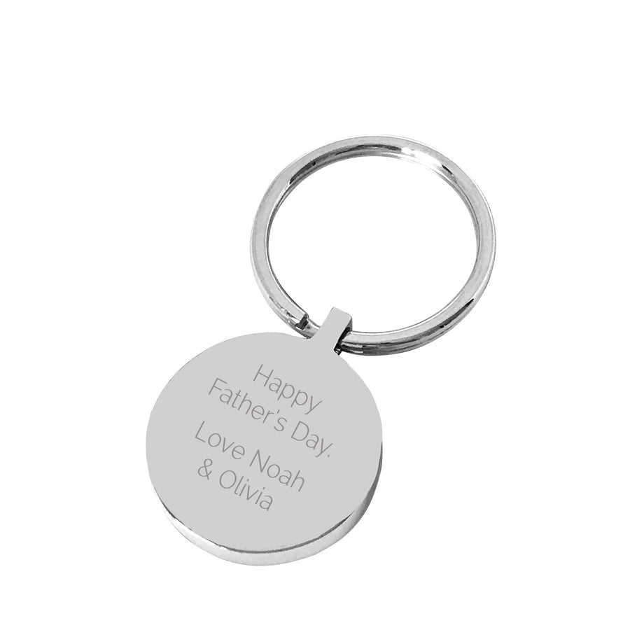Grandpa's Keys – Silver engraved personalised keyring
