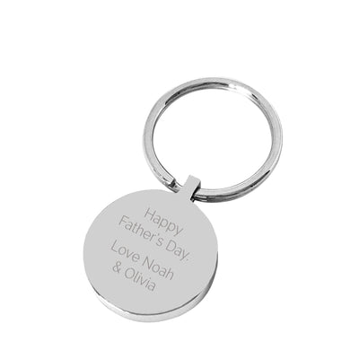 Daddy's Keys – Silver engraved personalised keyring
