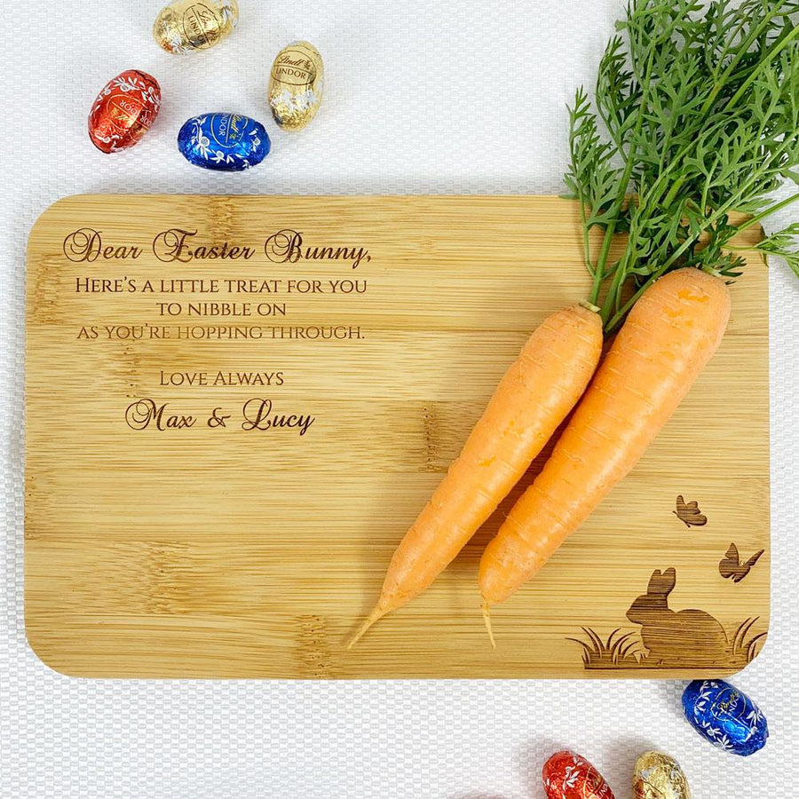Personalised Easter Bunny Treat Board (Bunny & Butterfly design)