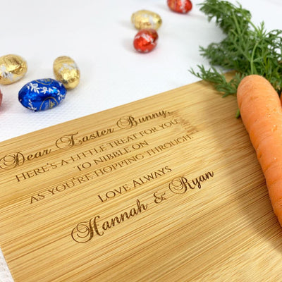 Personalised Easter Bunny Treat Board (Easter Egg design)