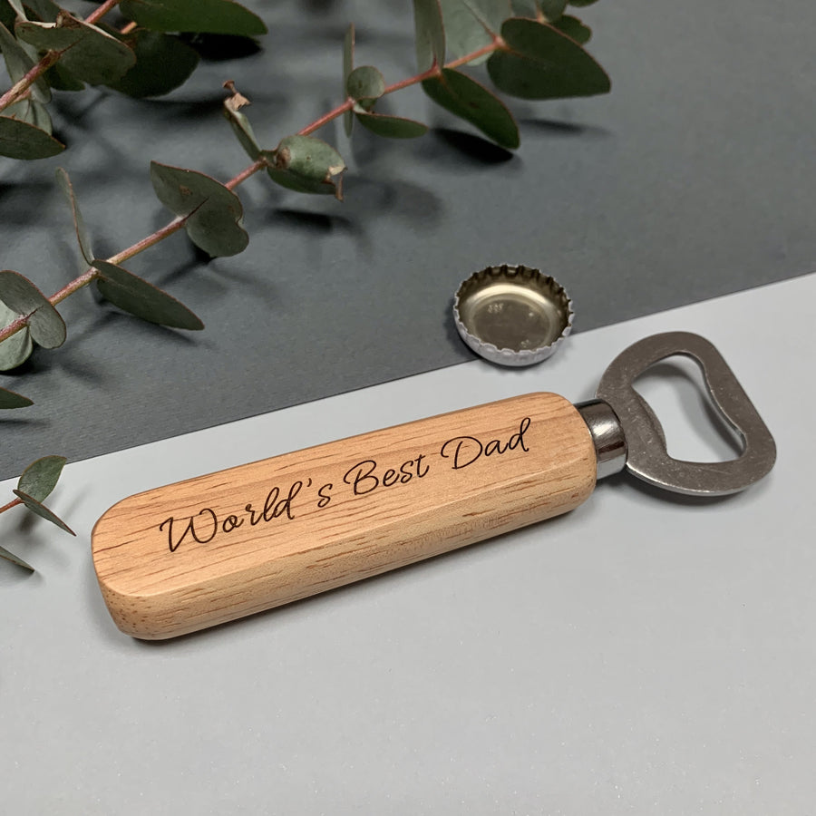 Wooden bottle opener - World's Best Dad