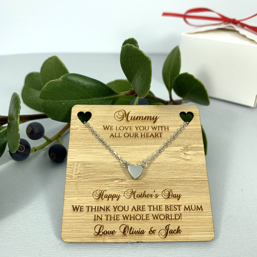 We love you with all our heart - Personalised Gift for Mum