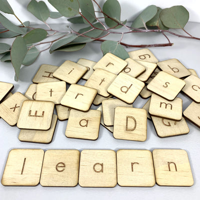 Letter Tiles for Learning - Homeschool Tool