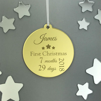 Personalised My 1st Christmas Ornament - Mirror Acrylic
