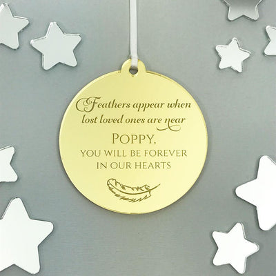 Personalised Memorial Christmas Ornament - Mirror Acrylic
