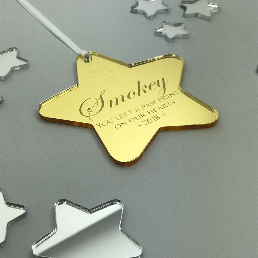 Personalised Pet Memorial Christmas Ornament - Mirror Acrylic