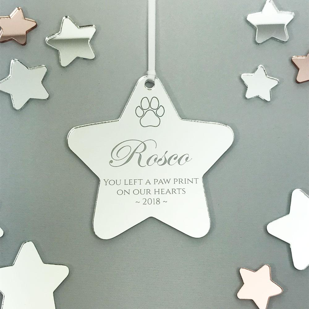 Personalised Pet Memorial Christmas Ornament - Mirror Acrylic - Max ...