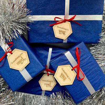 Simplicity Gift Tags for Christmas or birthdays - Maple or Bamboo (set of 4)